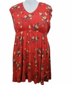 Torrid Floral Challis Skater Dress Size 3